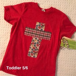 Rugged Cross KIDS Distressed Recycled Tee, Vintage Red, Toddler 5/6