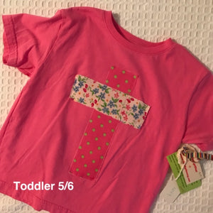 Rugged Cross KIDS Distressed Recycled Tee Pink Toddler 5/6
