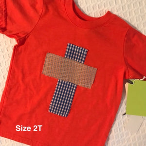 Rugged Cross KIDS Distressed Recycled Tee Orange Toddler Size 2