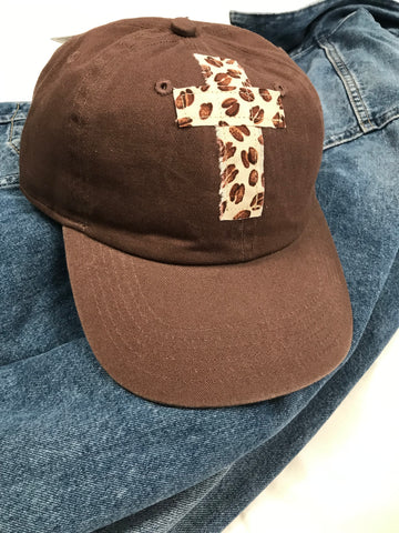 Rugged Cross Vintage Retro 100% Cotton Baseball Cap, Chocolate Coffee Bean