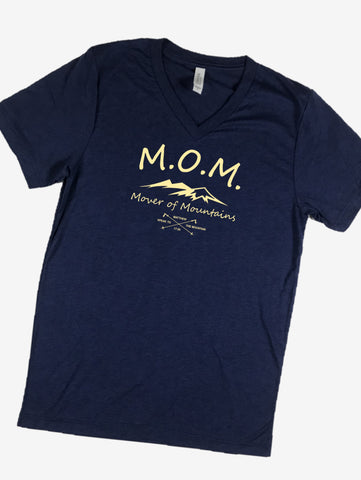 """Hope. It's a thing."" Short Sleeve Tee Shirt, V-Neck, Navy"