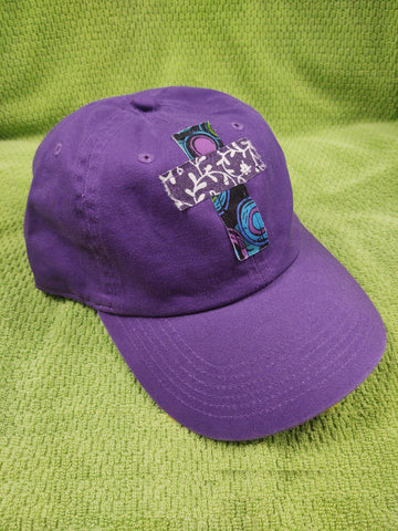 Rugged Cross Vintage Retro 100% Cotton Baseball Cap, Purple
