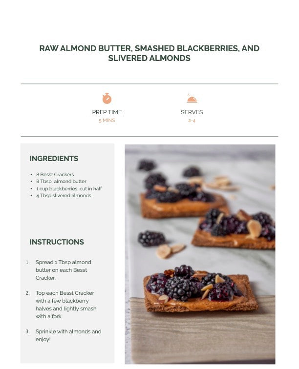 Almond Butter and Berries