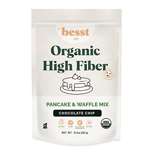 The Besst Organic High Fiber Pancake & Waffle Mix, Keto Friendly and Soy Free Paleo Pancake and Waffle Mix for a 100% Vegan Breakfast with no GMOs