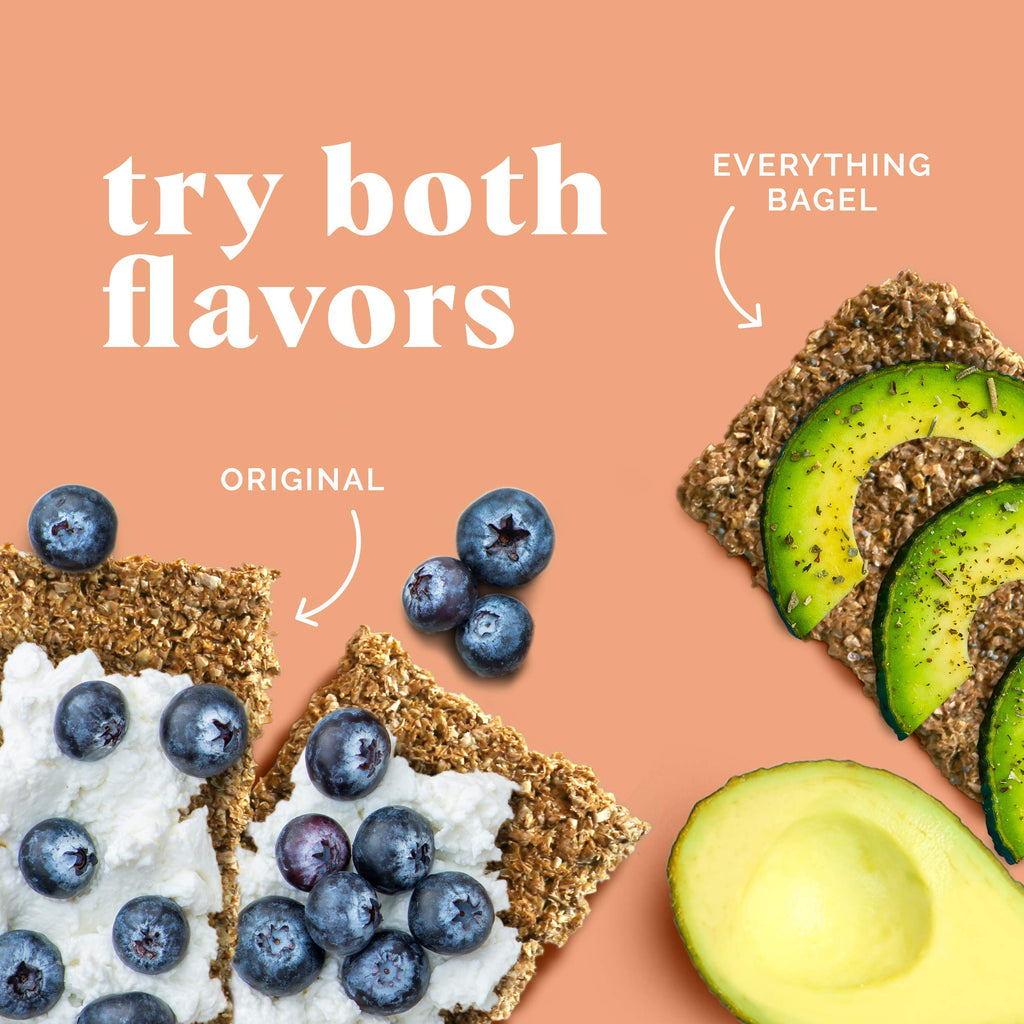 Let's Be Bessties!™ Organic High Fiber Everything Bagel Flavor Crackers