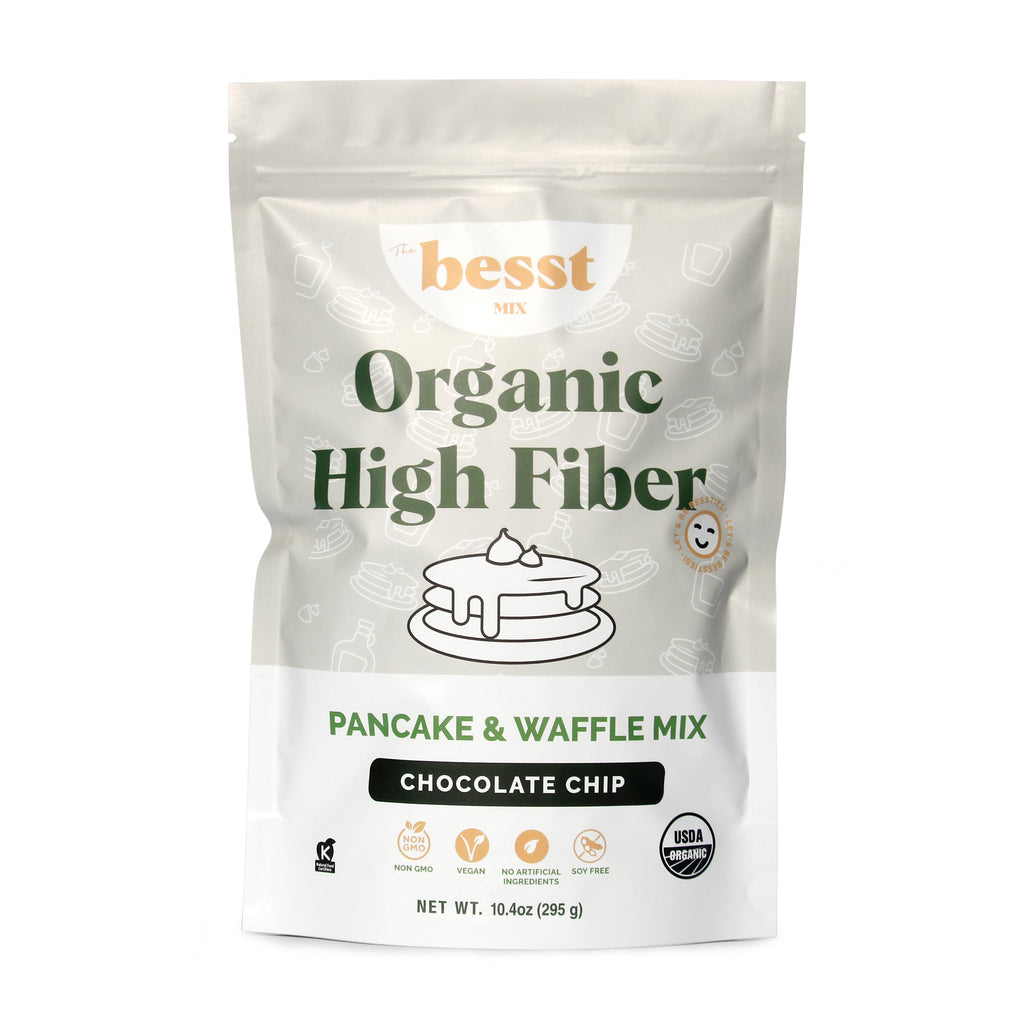 Bessties High Fiber Pancake and Waffle Mix - Chocolate Chip