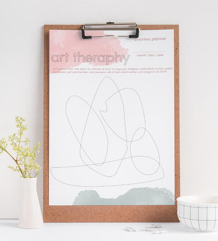 Art Inspiration DIY - Art Therapy free printable