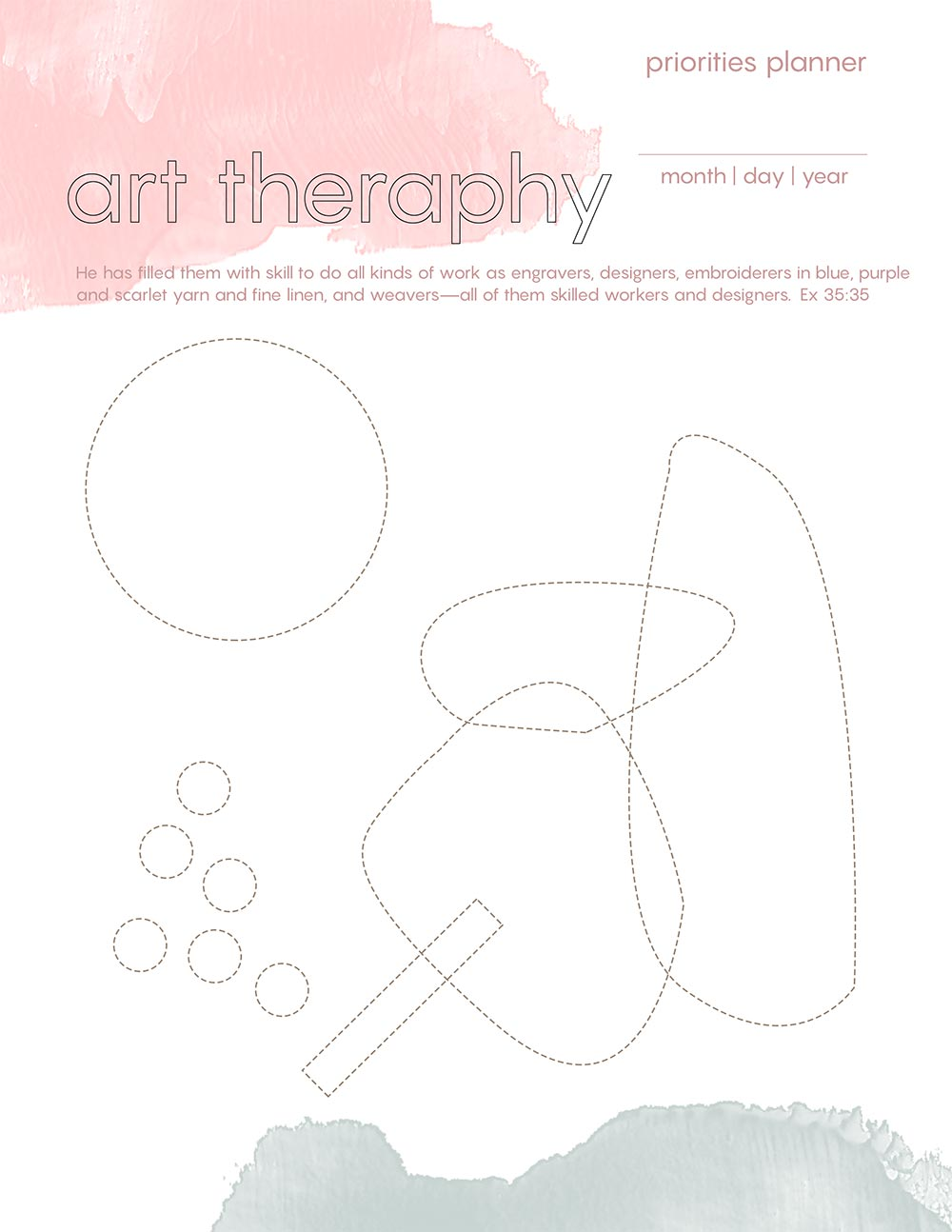 Art Therapy - Printable Blog Post - Beautiful Word Blog