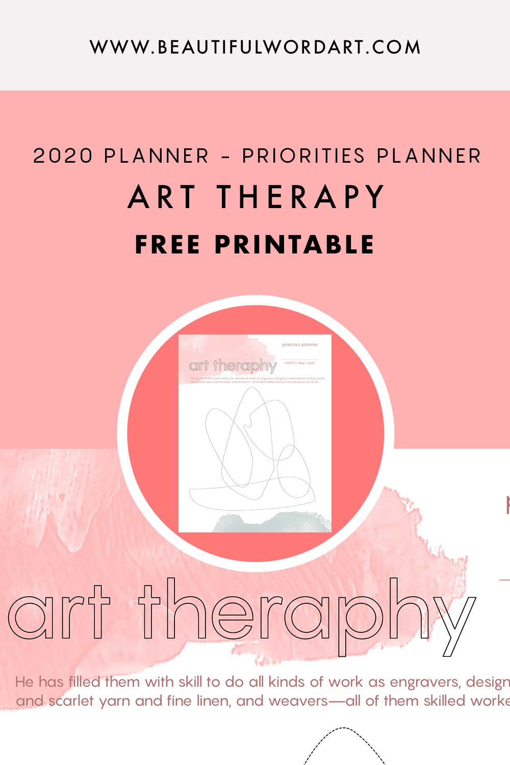 Art Therapy Free Printable - Beautiful Word Blog
