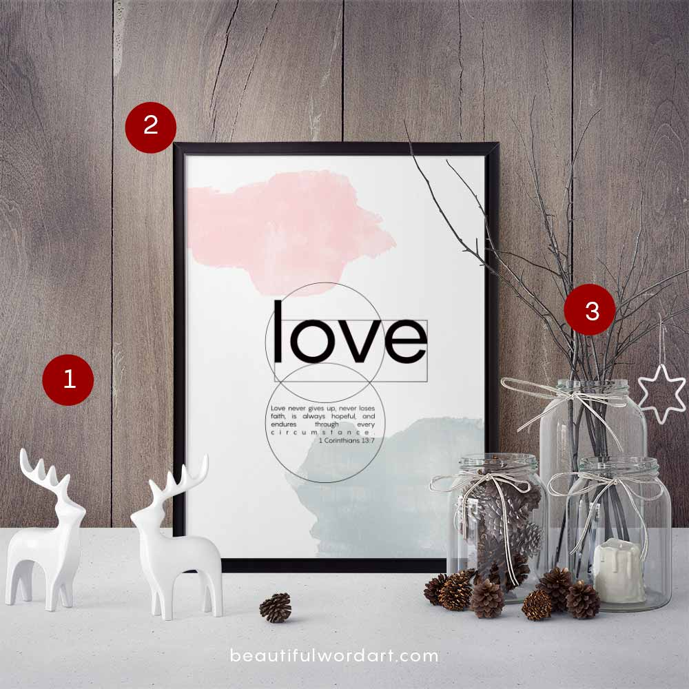 Inspirational Wall Art and Christmas decorations