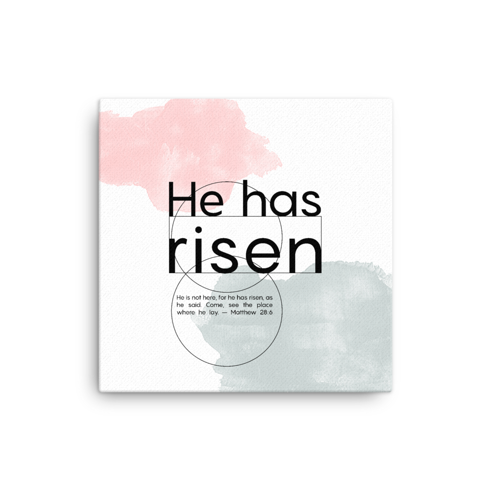 Easter 2020 Canvas print He has risen