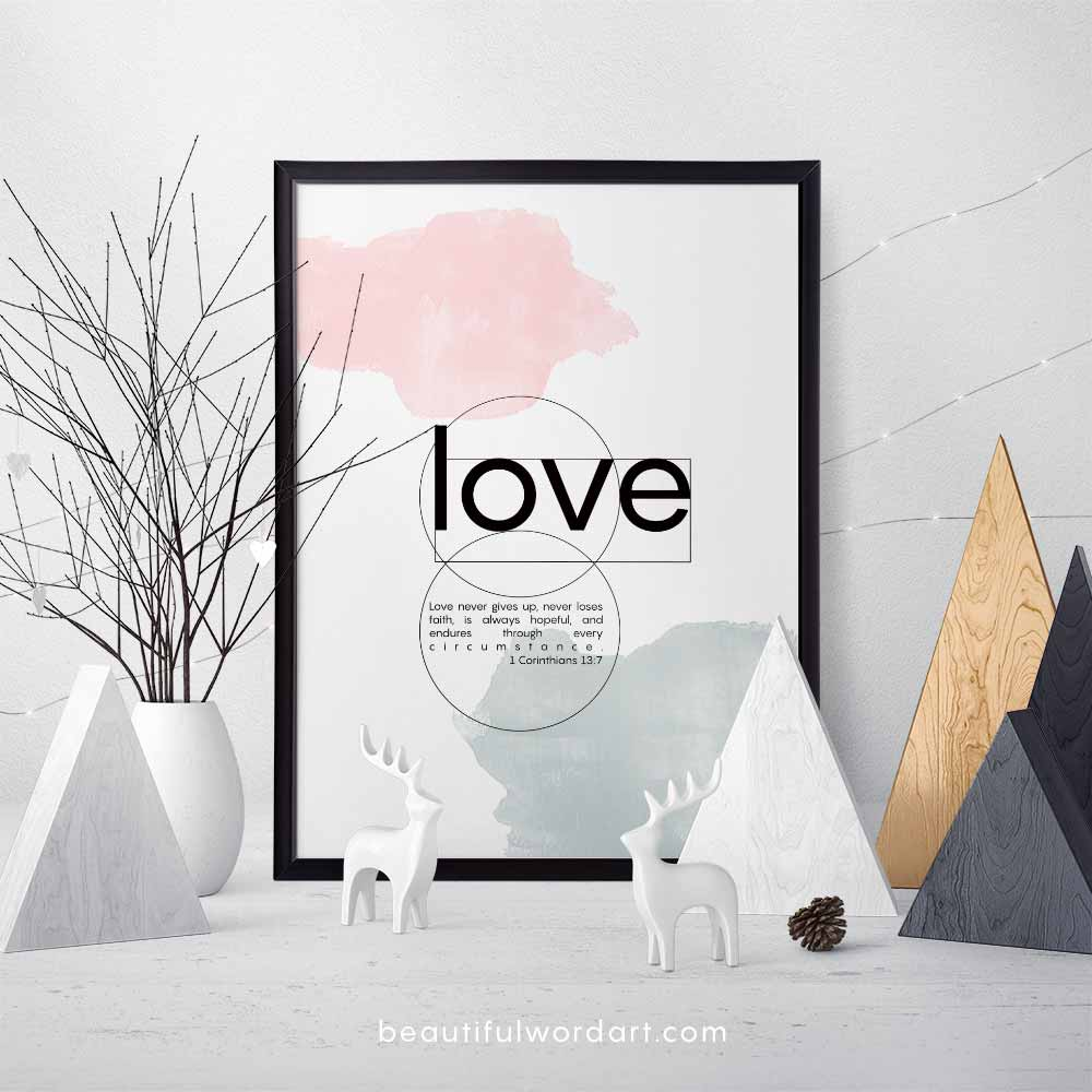 Inspirational Wall Art and Christmas decorations minimal scandi