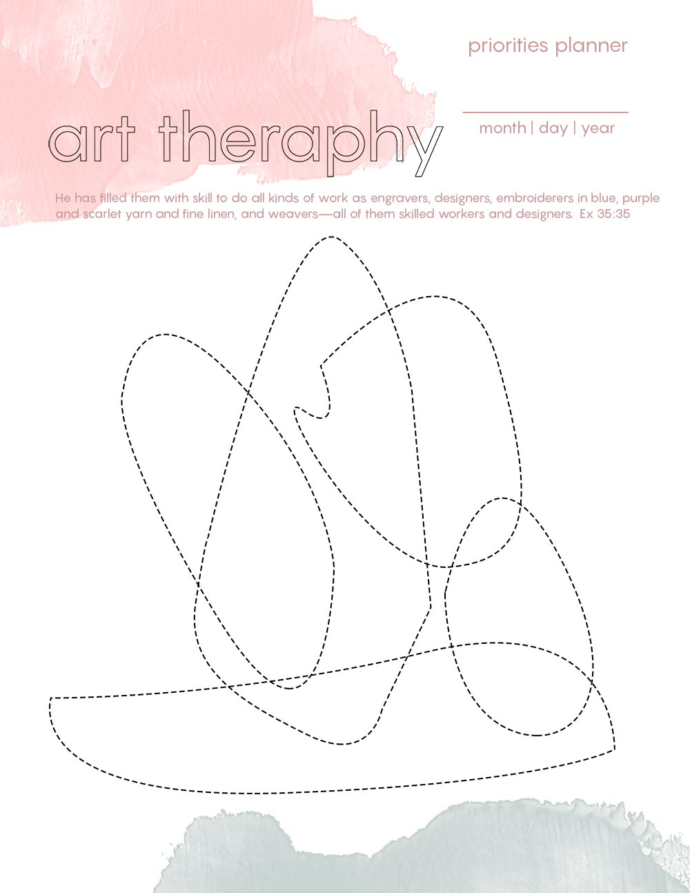 Art Therapy - Priorities Planner 2020