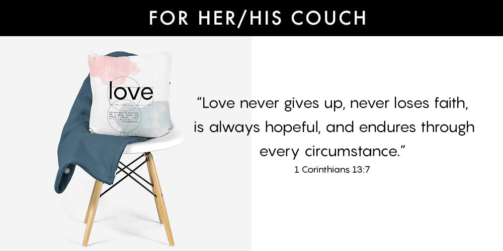 Unique Valentine's Day Ideas - Love Decorative Pillow - Beautiful Word