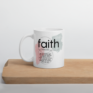 Faith scriptures mug - Romans 3:22