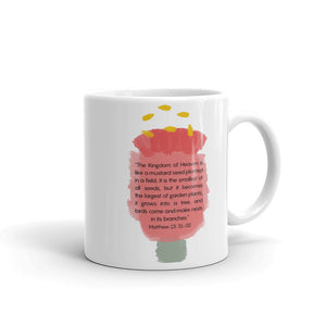 Matthew 13: 31-32 Modern Bible Verse Design Mug