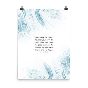 Jeremiah 29 11 poster with modern design