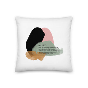 Romans 15 decorative pillow