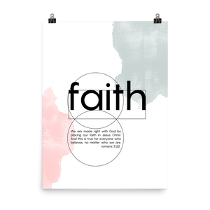 Faith scriptures poster - Romans 3:22