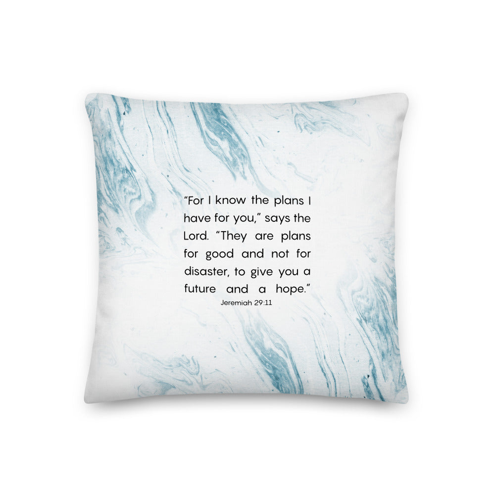 Jeremiah 29:11 decorative pillow
