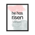 He has risen Easter framed poster print