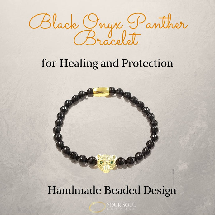 Golden Black Onyx Panther Bracelet: Your Bracelet for Healing and Spiritual Protection