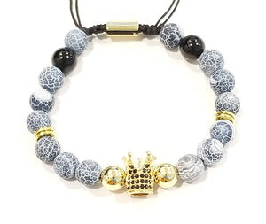 Blue Agate Stone Royal Crown