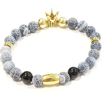 Load image into Gallery viewer, Blue Agate Stone Royal Crown