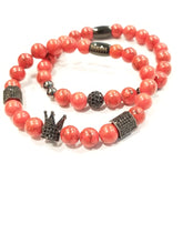 Load image into Gallery viewer, Red Turquoise Royal Crown Bracelet