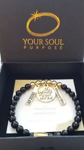 Powerful Protection Onyx Yellow Gold Bracelet