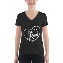 Load image into Gallery viewer, Be Kind - Women's V-neck Tee