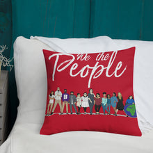 Load image into Gallery viewer, WYSP - People - Red & Blue - Premium Pillow