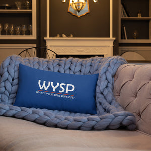 WYSP - People - Red & Blue - Premium Pillow