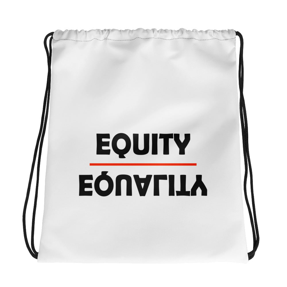 Equity Over Equality - Bold - Black - Drawstring bag