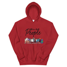 Load image into Gallery viewer, We are the People - Bold - Black - Hooded Sweatshirt