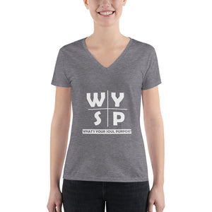 WYSP - What's Your Soul Purpose? - Cross - Women's Fashion Deep V-neck Tee