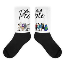 Load image into Gallery viewer, We the People - Bold - Black - White & Black Foot Sublimated Socks