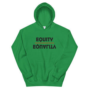 Equity Over Equality - Bold - Black - Hooded Sweatshirt