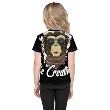 Load image into Gallery viewer, Be Creative - All Over - Black - Kids T-Shirt