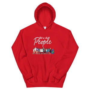 We are the People - Bold - White - Hooded Sweatshirt