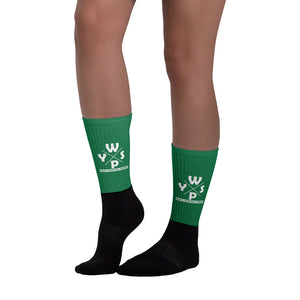 WYSP - What's Your Soul Purpose? - Ozark - Green & Black Foot Sublimated Socks