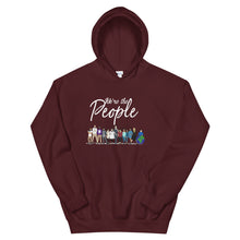 Load image into Gallery viewer, We are the People - Bold - White - Hooded Sweatshirt