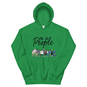 We the People - Bold - Black - Hooded Sweatshirt