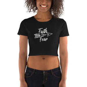 Faith Over Fear - Women's Crop Tee