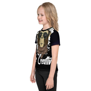 Be Creative - All Over - Black - Kids T-Shirt