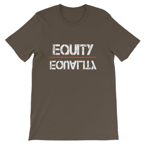 Equity Over Equality - White - Short-Sleeve Unisex T-Shirt