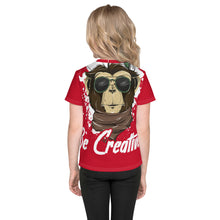 Load image into Gallery viewer, Be Creative - All Over - Red - Kids T-Shirt