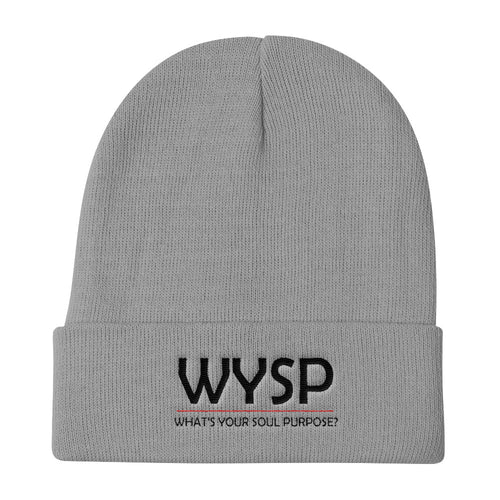 WYSP - What's Your Soul Purpose? - Bold - Black - Knit Beanie