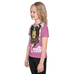 Be Creative - All Over - Pink - Kids T-Shirt