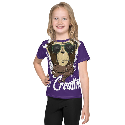 Be Creative - All Over - Purple - Kids T-Shirt